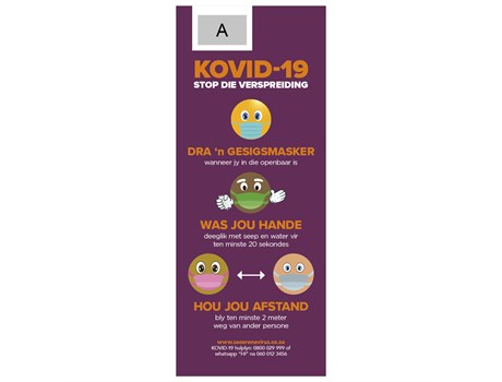 Antares Afrikaans Covid-19 Pull-Up Banner Advertising Display Items