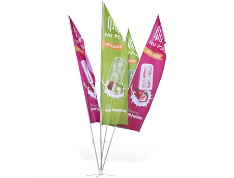Champion 4-Flag Fountain 6m – Large Advertising Display Items