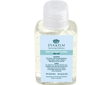 Eva & Elm Coppett Gel Hand Sanitiser – 50ml First Aid and Personal Care
