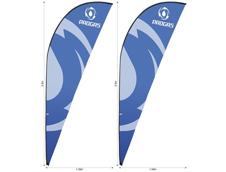 Legend 3m Sharkfin Flying Banner Skin (Set Of 2) Advertising Display Items