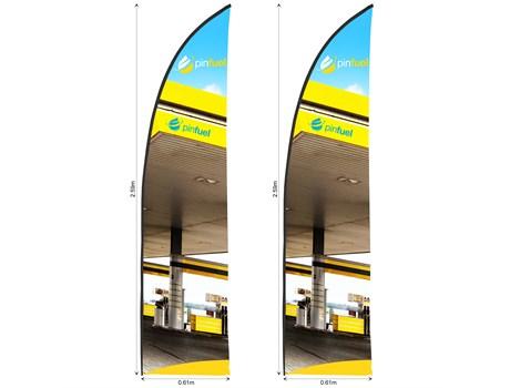 Legend 2m Arcfin Flying Banner Skin (Set Of 2) Advertising Display Items