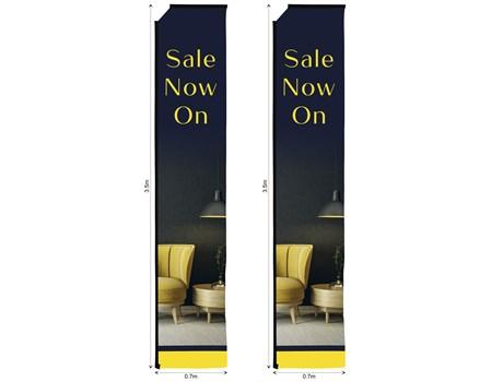 Legend 4m Telescopic Flying Banner Skin (Set Of 2) Advertising Display Items