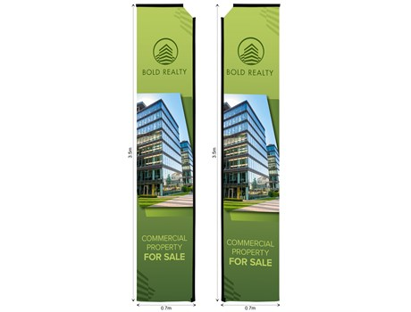 Legend 4m Telescopic Double-Sided Flying Banner Skin Advertising Display Items