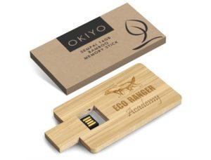 Okiyo Sempai 16GB Bamboo Memory Stick Eco-friendly Products