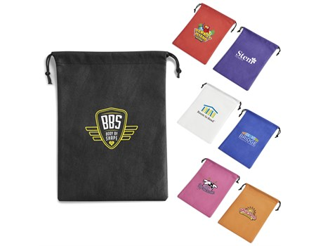 Non-Woven Drawstring Pouch Bags and Travel