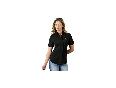 Denise Short Sleeve Blouse – Navy Only Lounge Shirts and Blouses