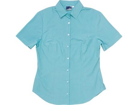 Rita Short Sleeve Blouse – Aqua Only Lounge Shirts and Blouses 3