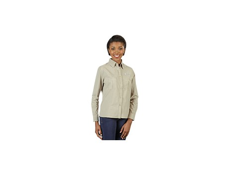 Tracker Long Sleeve Blouse – Khaki Only Lounge Shirts and Blouses