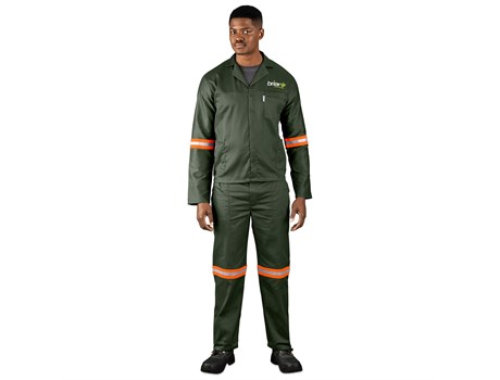 Acid Resistant Polycotton Conti Suit – Reflective Arm & Legs – Orange Tape Workwear and Hospitality