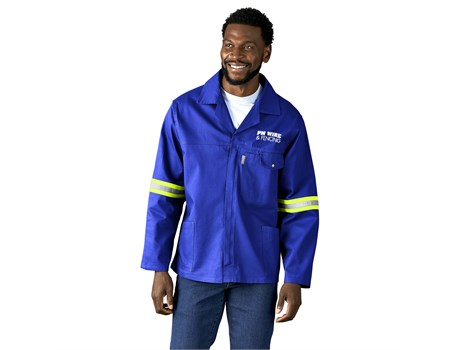 Artisan Premium 100% Cotton Jacket – Reflective Arms – Yellow Tape Workwear and Hospitality