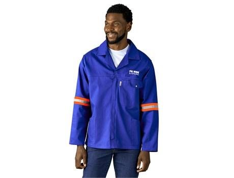 Artisan Premium 100% Cotton Jacket – Reflective Arms – Orange Tape Workwear and Hospitality