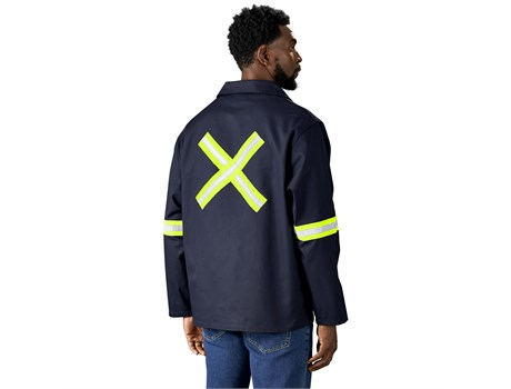 Artisan Premium 100% Cotton Jacket – Reflective Arms & Back – Yellow Tape Workwear and Hospitality