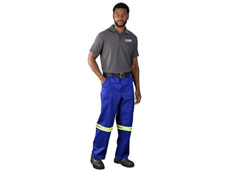 Artisan Premium 100% Cotton Pants – Reflective Legs – Yellow Tape Workwear and Hospitality