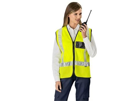 Airport Hi-Viz Reflective Full Zip Vest Workwear and Hospitality