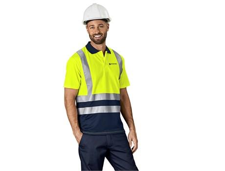 Surveyor Two-Tone Hi-Viz Reflective Golf Shirt Workwear and Hospitality