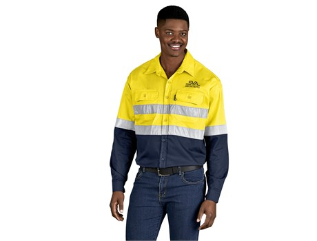 Access Vented Two-Tone Reflective Work Shirt Workwear and Hospitality