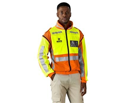 Metro Two-Tone Hi-Viz Reflective Zip-Off Jacket Workwear and Hospitality