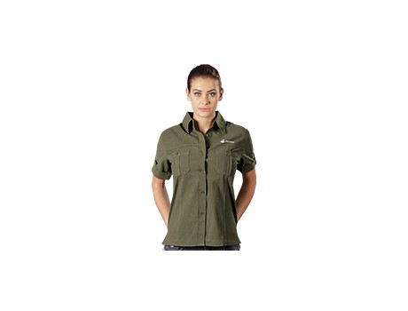 Tracker Short Sleeve Blouse – Stone Only Lounge Shirts and Blouses